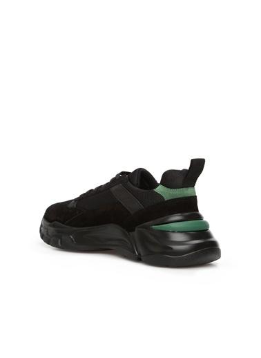 Divarese 5024910 File Garnili Kadın Deri Sneaker Siyah